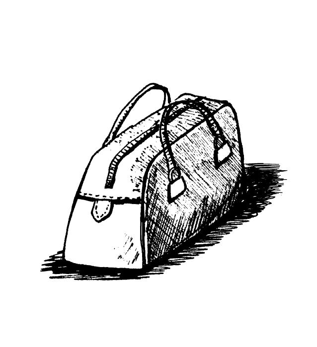 Ceci est la valise de mon grand père.