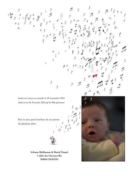 Anaïs est née parmi les oiseaux