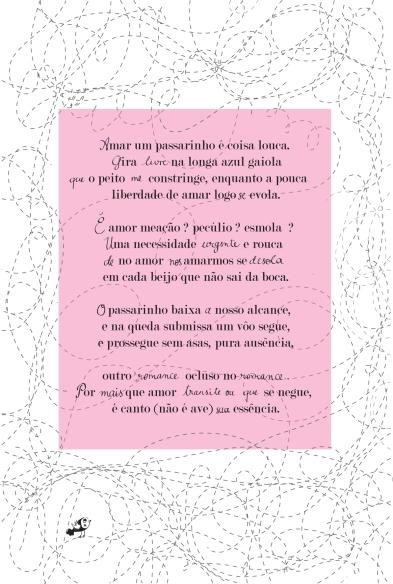Poème brésilien pour une maman brésilienne et un papa français, qui parle d'un oiseau.