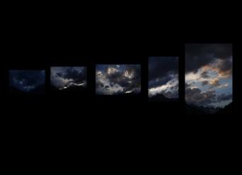 fumée dans les nuages