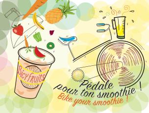 Pédale pour ton smoothie, flyer