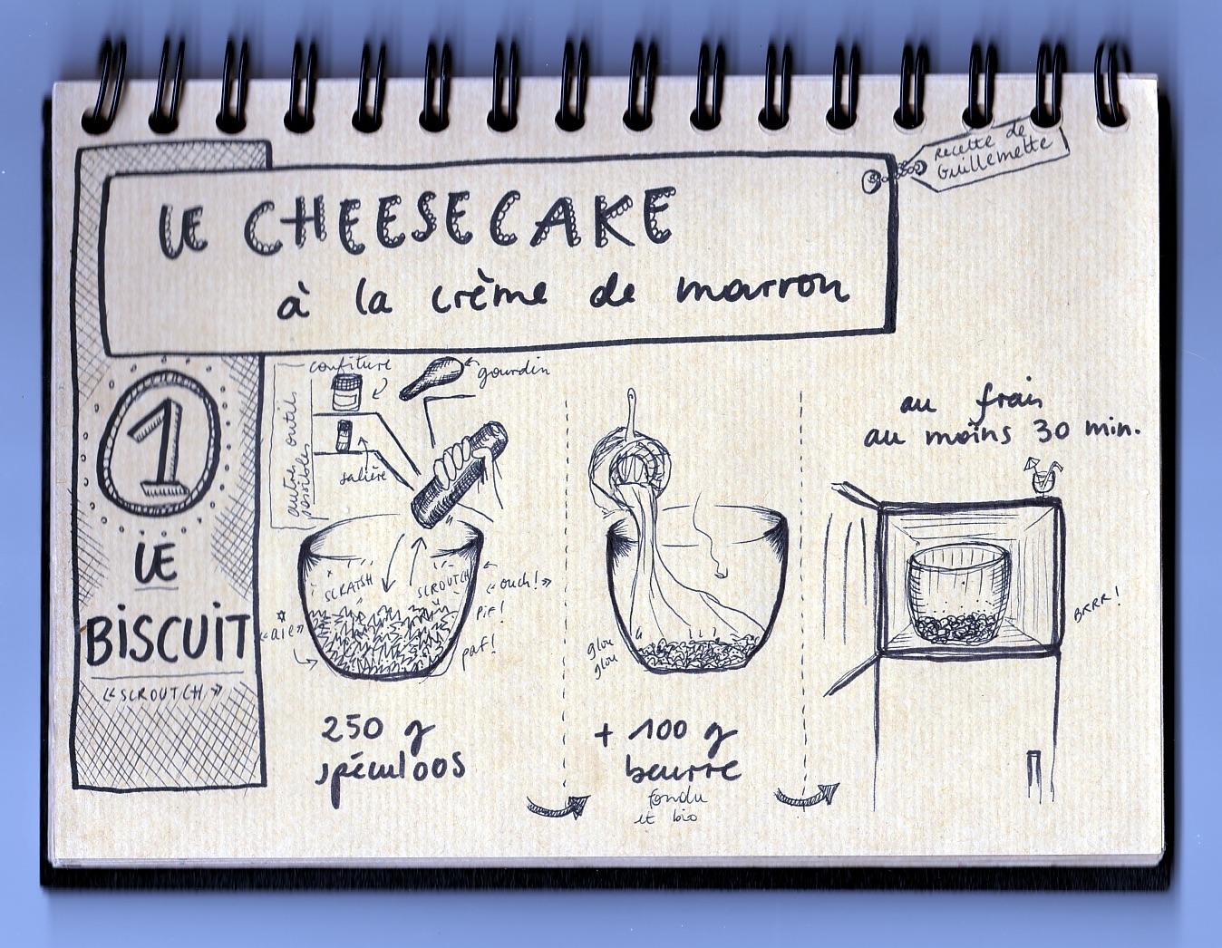 La recette du Cheesecake à la crème demarron