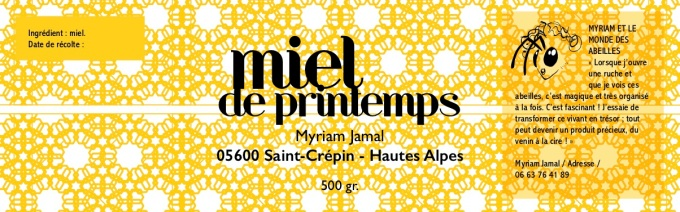 étiquette miel version 1